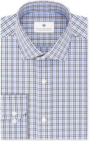 Ryan Seacrest Distinction Men's Slim-Fit Non-Iron Blue Check Dress Shirt, Only at Macy's