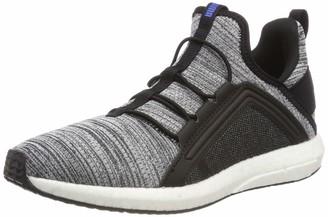 Puma Unisex Kid's Mega NRGY Heather Knit AC PS Low-Top Sneakers Black Black White-Indigo Bunting 1 UK