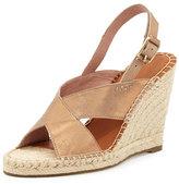 Joie Jace Crisscross Slingback Wedge Sandal, Bronze