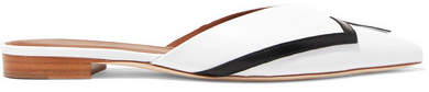 Malone Souliers Emanuel Ungaro Amelie Leather Point-toe Flats - White