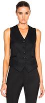 Victoria Beckham Sable Wool & Viscose Waistcoat