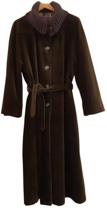 Ted Lapidus Khaki Velvet Coat for Women