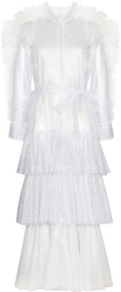Viktor & Rolf Tulle Ruffled Shirt Dress