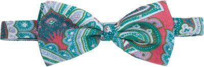 Barneys New York Paisley Print Bow Tie