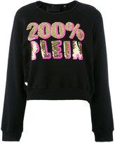Philipp Plein logo sweatshirt - women - Cotton - S
