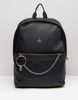 Asos Backpack With Chain Detail