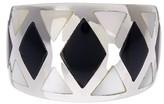 Candela Sterling Silver Mother of Pearl & Black Onyx Harlequin Ring