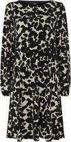 Wallis **TALL Monochrome Animal Print Swing Dress