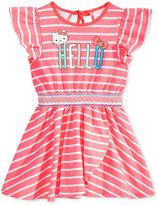 Hello Kitty Graphic Striped Cotton Dress, Toddler & Little Girls (2T-6X)