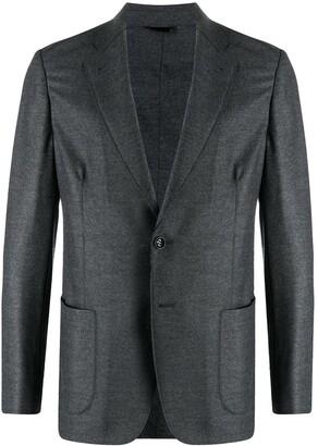 Giorgio Armani Single-Breasted Fitted Blazer
