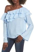Socialite Women's Ruffle One-Shoulder Top