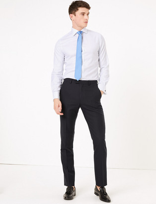 Marks and Spencer Pure Cotton Tailored Fit Check Shirt