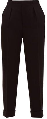 Roland Mouret Horley Slim-leg Wool-crepe Trousers - Black
