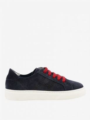 Hogan Suede Sneakers With Perforated H