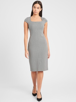 Banana Republic Sloan Square-Neck Sheath Dress