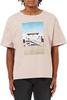 Topman Beach Hut Graphic Boxy T-Shirt