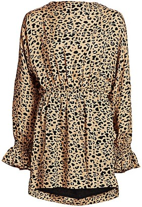 Baum und Pferdgarten It Take a Family Aemiley Leopard Open-Back Dress