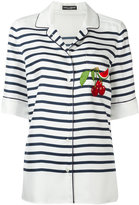 Dolce & Gabbana striped shirt - women - Silk/Cotton/Polyamide/Viscose - 40