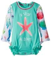 Hatley Ocean Treasures Mini Rashguard Swimsuit Girl's Swimsuits One Piece