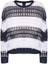 Lorena Antoniazzi Color-Block Crocheted Jumper