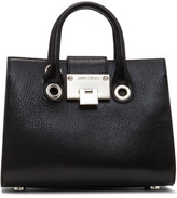 Jimmy Choo Riley Top Handle Tote Grz Soft Grained Goat Leather