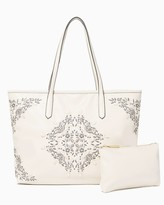 Charming charlie Embroidered Bag-In-Bag Tote