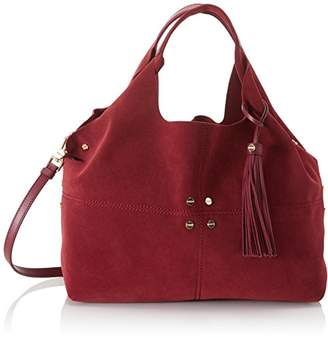 Borbonese Women's 954758J25 Shoulder Bag Red