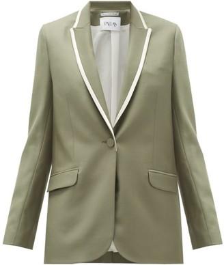 Pallas Paris Glasgow Single-breasted Wool Jacket - Khaki