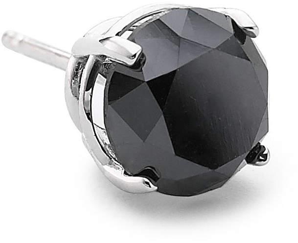 Black Diamond FINE JEWELRY Single Stud Earring, 3/4 CT. Steel