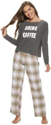 So Juniors' SO Pajama Top & Flannel Pants Pajama Set