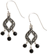 Lord & Taylor Sterling Silver and Marcasite Drop Earrings