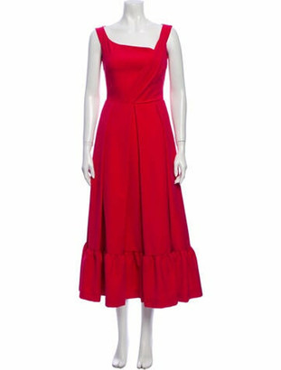 Preen by Thornton Bregazzi Square Neckline Long Dress w/ Tags Pink