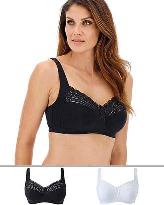 Pretty Secrets 2Pack Jane Non Wired Bras