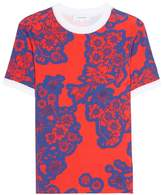 Carven Floral-printed cotton top