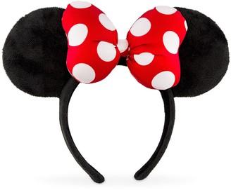 Disney Minnie Mouse Satin Polka Dot Bow Ear Headband Red