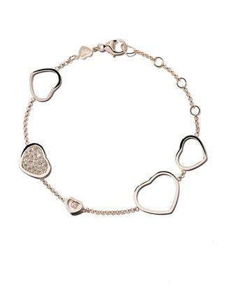 Chopard 18kt rose gold Happy Hearts diamond bracelet