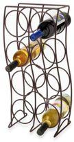 Spectrum 8-Bottle Metal Wine Rack - Bronze