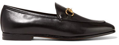 Gucci Jordaan Horsebit-detailed Leather Loafers - Black