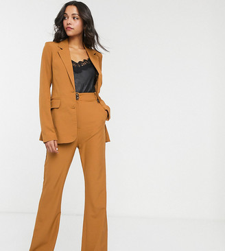 Fashion Union Tall wide leg trousers in tan co-ord