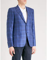 Canali Checked Tailored-fit Wool And Silk-blend Jacket
