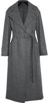 Max Mara Herringbone Wool Coat - Gray