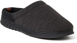 Dearfoams Men's Woven Fairisle Footbed Clog Slippers - Steven