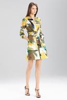 Josie Natori Printed Cotton Poplin Dress