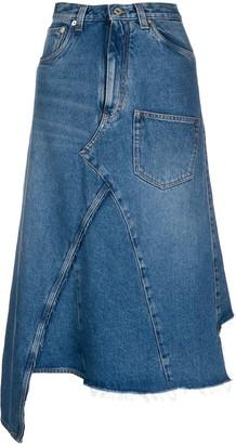 Loewe Deconstructed Denim Midi Skirt
