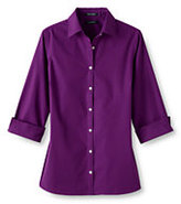 Lands' End Women's Petite 3/4 Sleeve Dobby Shirt-Soapstone Dobby Dot