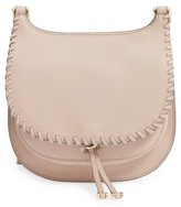 Vince Camuto Small Lidia Leather Crossbody Bag - Beige