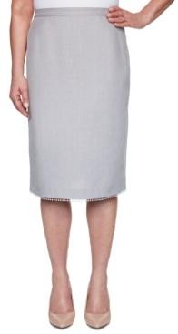 Alfred Dunner Petite Primrose Garden Lace-Trimmed Skirt