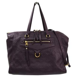 Louis Vuitton Lumineuse Burgundy Leather Handbags