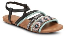 OLIVIA MILLER Bohemian Rhapsody Pom Sandals Women's Shoes