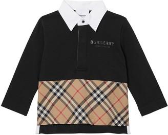 Burberry Cotton Pique & Poplin Polo Shirt